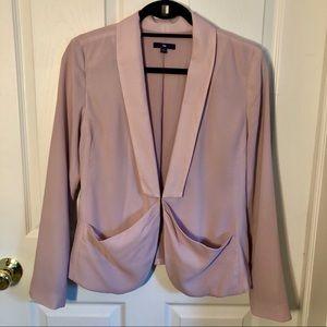 Rose Pink Polyester Blazer